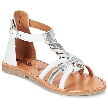 Sapatos Rapariga Sandálias Citrouille et Compagnie GITANOLO Branco / Prata