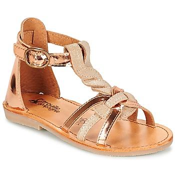 Sapatos Rapariga Sandálias Citrouille et Compagnie GITANOLO Bege / Cobre