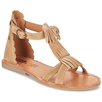 Sapatos Rapariga Sandálias Citrouille et Compagnie GAMELA Camel