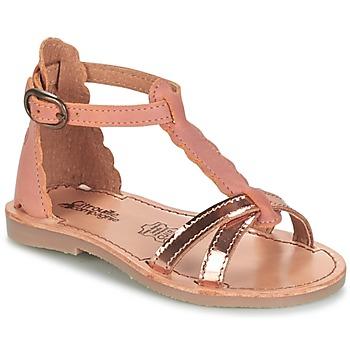 Sapatos Rapariga Sandálias Citrouille et Compagnie GUBUDU Rosa / Ouro
