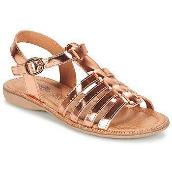 Sapatos Rapariga Sandálias Citrouille et Compagnie GROUFLA Bronze