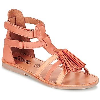 Sapatos Rapariga Sandálias Citrouille et Compagnie GOFARO Pêssego