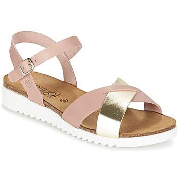 Sapatos Mulher Sandálias Casual Attitude GIFA Rosa / Dourado