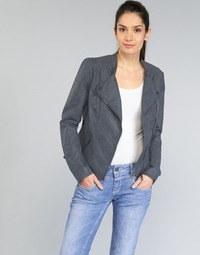 Textil Mulher Casacos de couro/imitação couro Only AVA Marinho