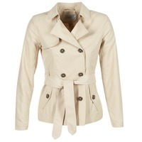 Textil Mulher Trench Only MARIA SHORT Bege