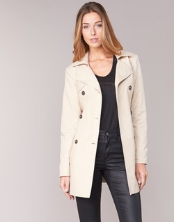 Textil Mulher Trench Only MARIA LONG Bege