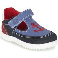 Sapatos Rapaz Sandálias Citrouille et Compagnie GANDAL Azul / Vermelho