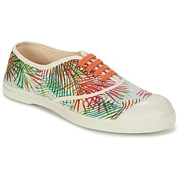 Sapatos Mulher Sapatilhas Bensimon TENNIS FEUILLES EXOTIQUES Cru / Laranja / Verde