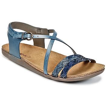 Sapatos Mulher Sandálias Kickers ATOMIUM Azul / Estampado