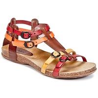 Sapatos Mulher Sandálias Kickers ANA Castanho / Vermelho / Laranja