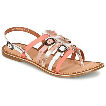 Sapatos Mulher Sandálias Kickers DIXMILLE Prata / Rosa / Branco