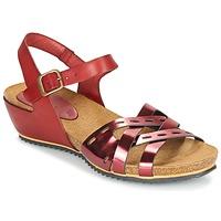 Sapatos Mulher Sandálias Kickers TOKANNE Vermelho / Metalizado