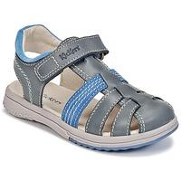Sapatos Rapaz Sandálias Kickers PLATINIUM Azul / Escuro / Azul