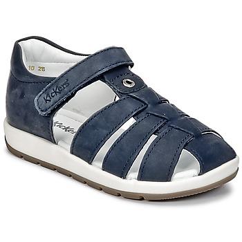 Sapatos Rapaz Sandálias Kickers SOLAZ Marinho