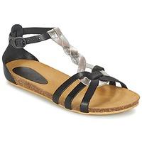 Sapatos Rapariga Sandálias Kickers BOMTARDES Prata / Preto