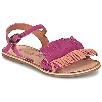 Sapatos Rapariga Sandálias Kickers DIXFROUFROU KID Rosa fúchia  / Coral