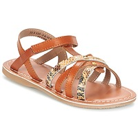 Sapatos Rapariga Sandálias Kickers FARAH Camel