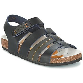 Sapatos Rapaz Sandálias Kickers MAGITEAM Preto