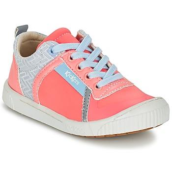 Sapatos Rapariga Sapatilhas Kickers ZIGUY Coral / Azul