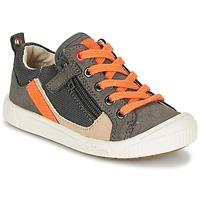 Sapatos Rapaz Sapatilhas Kickers ZIGZAGUER Cinza / Laranja