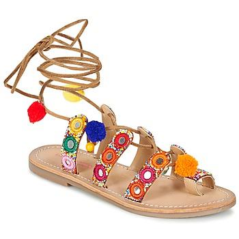 Sapatos Mulher Sandálias Les Tropéziennes par M Belarbi OREA Castanho / Multicolor