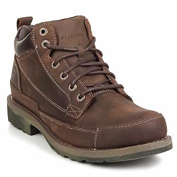 Sapatos Homem Botas baixas Skechers SHOCKWAVES REGIONS Castanho