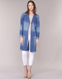 Textil Mulher Trench Cream DENIM TRENCHCOAT Ganga