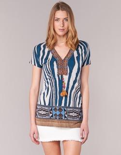 Textil Mulher T-Shirt mangas curtas Derhy JAQUERIE Azul