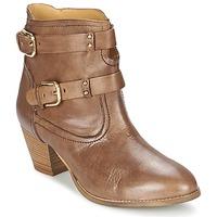 Sapatos Mulher Botins Casual Attitude SANOU Castanho
