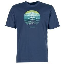 Textil Homem T-Shirt mangas curtas Columbia CSC MOUNTAIN SUNSET Azul