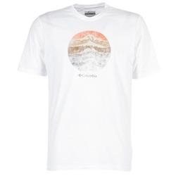 Textil Homem T-Shirt mangas curtas Columbia CSC MOUNTAIN SUNSET Branco