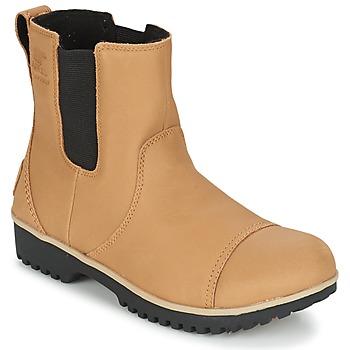 Sapatos Mulher Botas baixas Sorel MEADOW CHELSEA Bege
