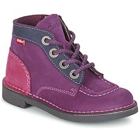 Sapatos Rapariga Botas baixas Kickers KICK COLZ Violeta / Marinho / Rosa