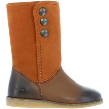 Sapatos Rapariga Botas Kickers 440761-30 FLOBIZZ Marrón