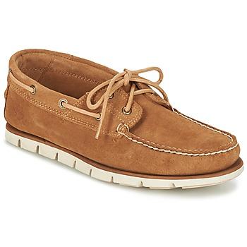 Sapatos Homem Sapato de vela Timberland Tidelands 2 Eye Castanho