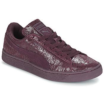 Sapatos Mulher Sapatilhas Puma WNS SUEDE C REMAST.WINE Violeta