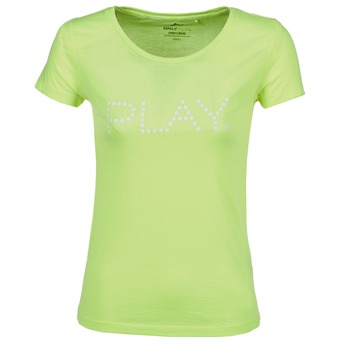 Textil Mulher T-Shirt mangas curtas Only Play BASIC Amarelo