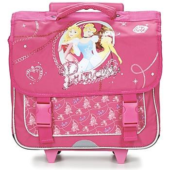 Malas Rapariga Mochila / Pasta com rodas Disney PRINCESSES CARTABLE TROLLEY 38CM Rosa