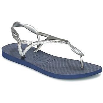 Sapatos Mulher Chinelos Havaianas LUNA Prata / Azul
