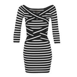 Textil Mulher Vestidos curtos Morgan RBEST Preto / Cru