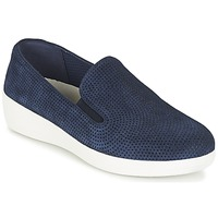 Sapatos Mulher Slip on FitFlop SUPERSKATE (PERF) Marinho