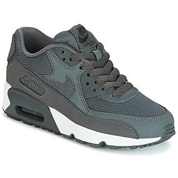 Sapatos Rapaz Sapatilhas Nike AIR MAX 90 MESH GRADE SCHOOL Cinza