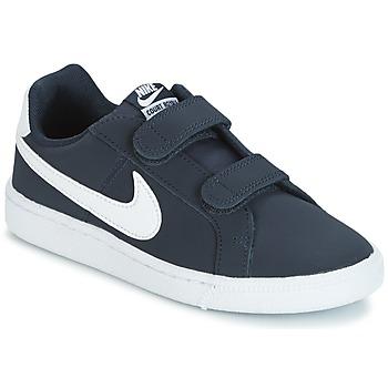 Sapatos Criança Sapatilhas Nike COURT ROYALE PRESCHOOL Azul / Branco