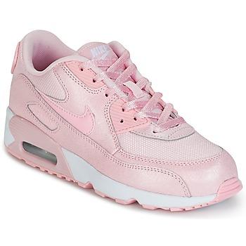 Sapatos Rapariga Sapatilhas Nike AIR MAX 90 MESH SE PRESCHOOL Rosa