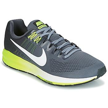 Sapatos Homem Sapatilhas de corrida Nike AIR ZOOM STRUCTURE 21 Cinza