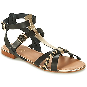 Sapatos Mulher Sandálias Bocage JARET Preto / Ouro