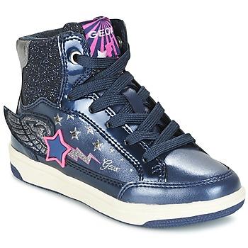 Sapatos Rapariga Sapatilhas de cano-alto Geox J CREAMY A Marinho / Rosa