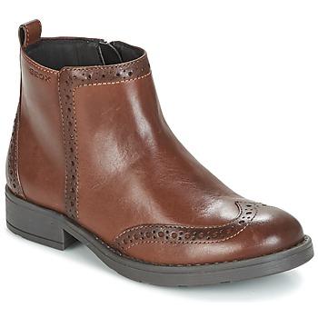 Sapatos Rapariga Botas baixas Geox J SOFIA F Castanho
