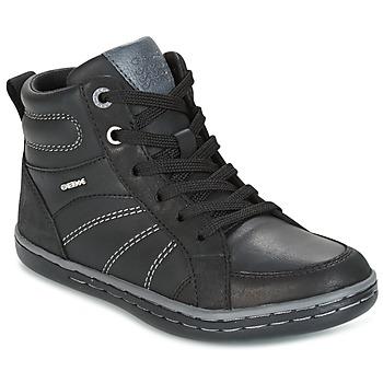 Sapatos Rapaz Sapatilhas de cano-alto Geox J GARCIA B. B Preto / Cinza