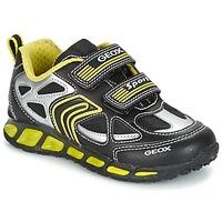 Sapatos Rapaz Sapatilhas Geox J SHUTTLE B. A Preto / Amarelo
